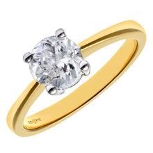 Load image into Gallery viewer, Engagement Ring, 18ct Yellow Gold IJ/I Round Brilliant Certified Diamond Ring, 1.00ct Diamond Weight