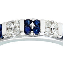 Load image into Gallery viewer, 9ct White Gold Sapphire And Diamond Fancy Eternity Ring