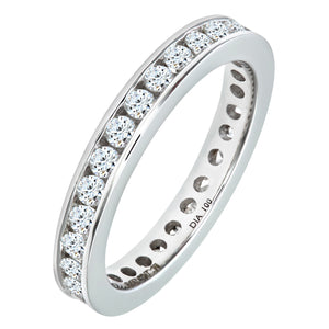 18ct White Gold 1 Carat Diamond Channel Set Eternity Ring