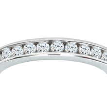 Load image into Gallery viewer, 18ct White Gold 1 Carat Diamond Channel Set Eternity Ring