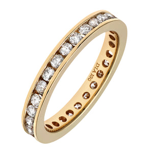 18ct Yellow Gold 1 Carat Diamond Channel Set Eternity Ring