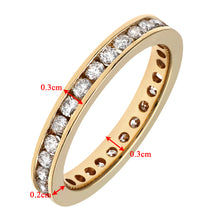 Load image into Gallery viewer, 18ct Yellow Gold 1 Carat Diamond Channel Set Eternity Ring