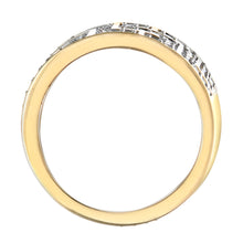Load image into Gallery viewer, 9ct Yellow Gold 1ct Diamond Greek Key Ring