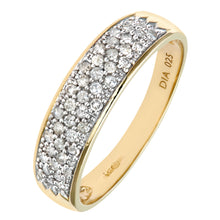Load image into Gallery viewer, 9ct Yellow Gold 0.25ct Diamond Pave Ring