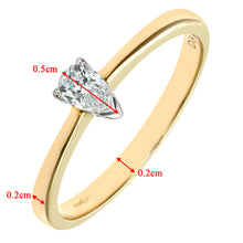 Load image into Gallery viewer, 9ct Yellow Gold Diamond Single Stone Pear Shaped Ladies Ring