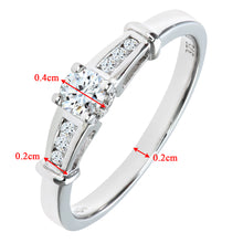 Load image into Gallery viewer, 9ct White Gold Diamond Single Stone With Diamond Shoulders Ladies Ring