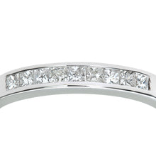 Load image into Gallery viewer, 9ct White Gold 0.25ct Princess Cut Diamond Channel Set Half Eternity Ring