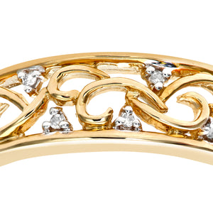 9ct Yellow Gold Ladies Diamond Ring