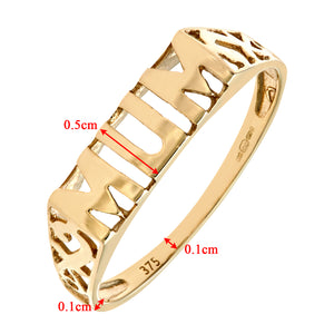 9ct Yellow Gold Mum Ring