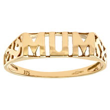 Load image into Gallery viewer, 9ct Yellow Gold Mum Ring