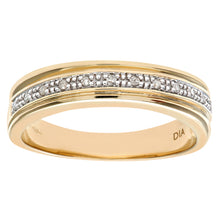 Load image into Gallery viewer, Ladies 9ct Yellow Gold Diamond Wedding Ring
