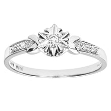 Load image into Gallery viewer, Ladies 9ct White Gold Diamond Accent Ring