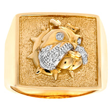 Load image into Gallery viewer, 9ct Yellow Gold Mens Diamond Ring