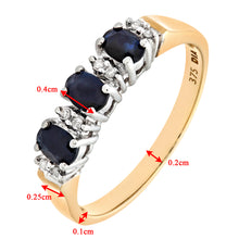 Load image into Gallery viewer, 9ct Yellow Gold Diamond and Sapphire Eternity Ladies Ring
