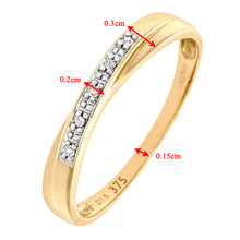 Load image into Gallery viewer, 9ct Yellow Gold Diamond Wedding Band