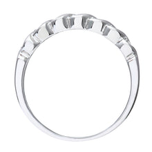 Load image into Gallery viewer, Ladies 9ct White Gold Fancy 10pts Diamond Eternity Ring