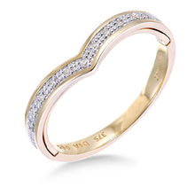 Load image into Gallery viewer, 9ct Yellow Gold 'I Love You' Diamond Wishbone Ring
