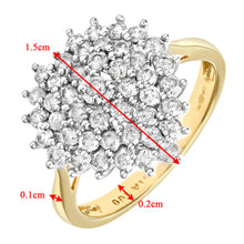 Load image into Gallery viewer, 18ct Yellow Gold 1ct Heart Shaped Diamond Cluster Ring
