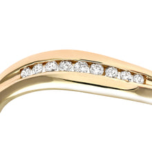 Load image into Gallery viewer, 9ct Yellow Gold 0.10ct Diamond Channel Set Wave Eternity Ring