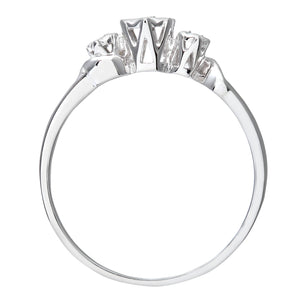 Ladies 9ct White Gold Diamond Accent Ring