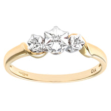 Load image into Gallery viewer, Ladies 9ct Yellow Gold Diamond Accent Ring