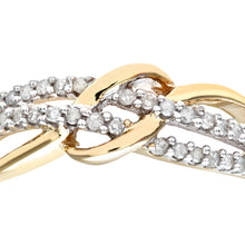 Load image into Gallery viewer, 9ct Yellow Gold 0.20ct Diamond Fancy Curve Eternity Ring