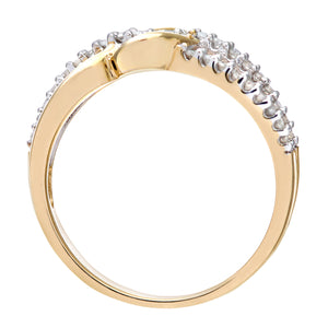 9ct Yellow Gold 0.20ct Diamond Fancy Curve Eternity Ring