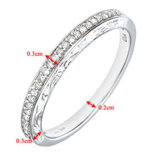 Load image into Gallery viewer, Ladies 9ct White Gold 10pts Diamond Eternity Ring