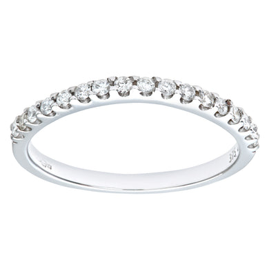 9ct White Gold Third Carat Diamond Classic Half Eternity Ring