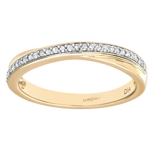Ladies 9ct Yellow Gold Diamond Eternity Ring