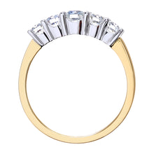 Load image into Gallery viewer, Eternity Ring, 18ct Yellow Gold IJ/I Round Brilliant Certified Diamond Ring, 0.75ct Diamond Weight