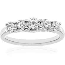 Load image into Gallery viewer, Eternity Ring, 18ct White Gold H/SI Round Brilliant Certified Diamond Ring, 1.00ct Diamond Weight