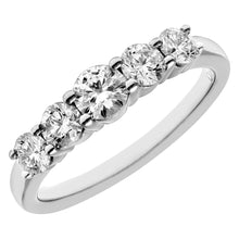Load image into Gallery viewer, Eternity Ring, 18ct White Gold IJ/I Round Brilliant Certified Diamond Ring, 1.00ct Diamond Weight