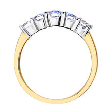Load image into Gallery viewer, Eternity Ring, 18ct Yellow Gold H/SI Round Brilliant Certified Diamond Ring, 1.00ct Diamond Weight