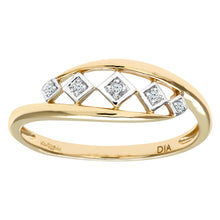 Load image into Gallery viewer, Ladies 9ct Yellow Gold Fancy Diamond Ring