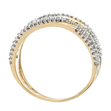 Load image into Gallery viewer, 9ct Yellow Gold Orange Diamond Multi Row Eternity Ring