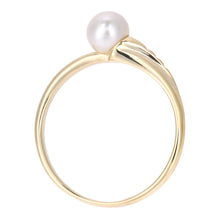 Load image into Gallery viewer, 9ct Yellow Gold with White Cultured pearl Ring