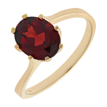 Load image into Gallery viewer, Ladies 9ct Yellow Gold Garnet Dress Ring