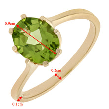 Load image into Gallery viewer, Ladies 9ct Yellow Gold Peridot Dress Ring