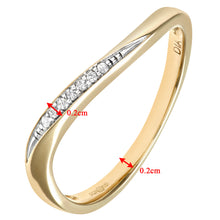 Load image into Gallery viewer, Ladies 9ct Yellow Gold Diamond Eternity Ring