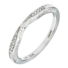 Load image into Gallery viewer, 9ct White Gold Diamond Pave Set Wave Eternity Ring