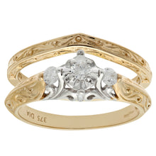 Load image into Gallery viewer, 9ct Yellow Gold 0.20ct Diamond Bridal Set Ring