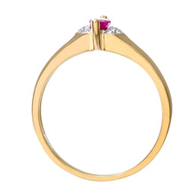 Load image into Gallery viewer, Ladies 9ct Yellow Gold Diamond & Marquise Ruby Ring