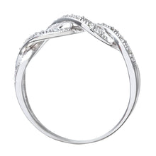 Load image into Gallery viewer, 9ct White Gold 0.10ct Diamond Crossover Ring