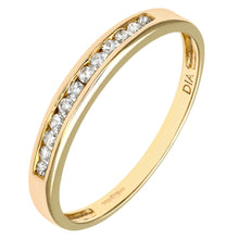 Load image into Gallery viewer, Ladies 9ct Yellow Gold 10pts Diamond Eternity Ring