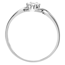Load image into Gallery viewer, Ladies 9ct White Gold 10pts Diamond Fancy Cluster Ring