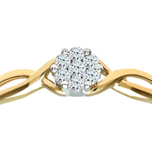 Load image into Gallery viewer, Ladies 9ct Yellow Gold 10pts Diamond Fancy Cluster Ring