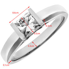 Load image into Gallery viewer, 18ct White Gold 0.75ct Princess Cut Certified Diamond Solitare Ring