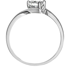 Load image into Gallery viewer, 18ct White Gold 0.50ct Brilliant Cut Certified Diamond Solitare Crossover Ring