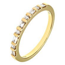 Load image into Gallery viewer, 18ct Yellow Gold 0.25ct Baugette and Round Diamond Eternity Ring